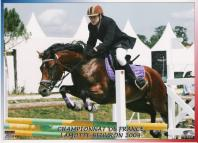 Janyce my pony at the Championnat de France